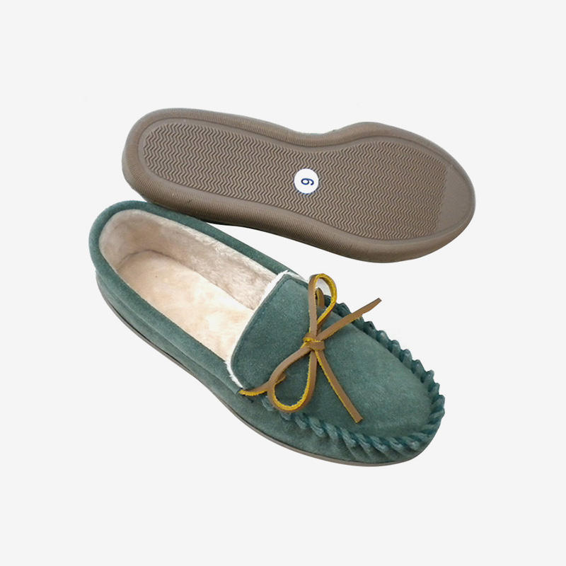 Cozy Suede Moccasin Style Slippers HB01X
