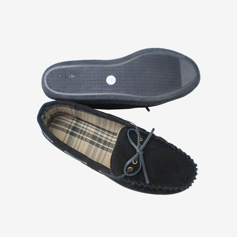 Classic Suede Knot Moccasin Slippers 5541-M-2