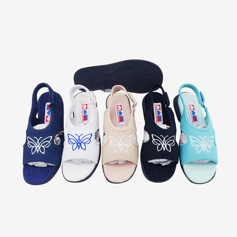 Canvas Fisherman Sandals With Embroidery