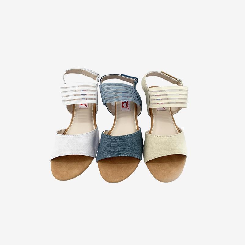Canvas Elastic Strap Sandals For Women