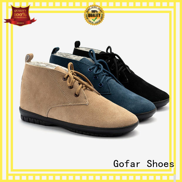 Gofar latest winter ankle boots company for men