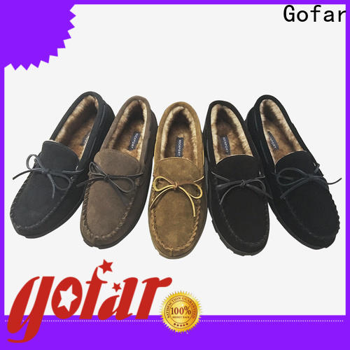 Gofar custom moccasin slippers company for men