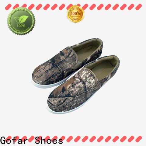 Gofar wholesale flat canvas shoes factory for sports