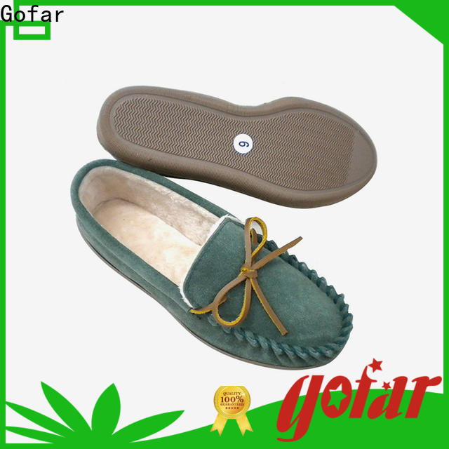 Gofar top suede moccasin slippers supply for men